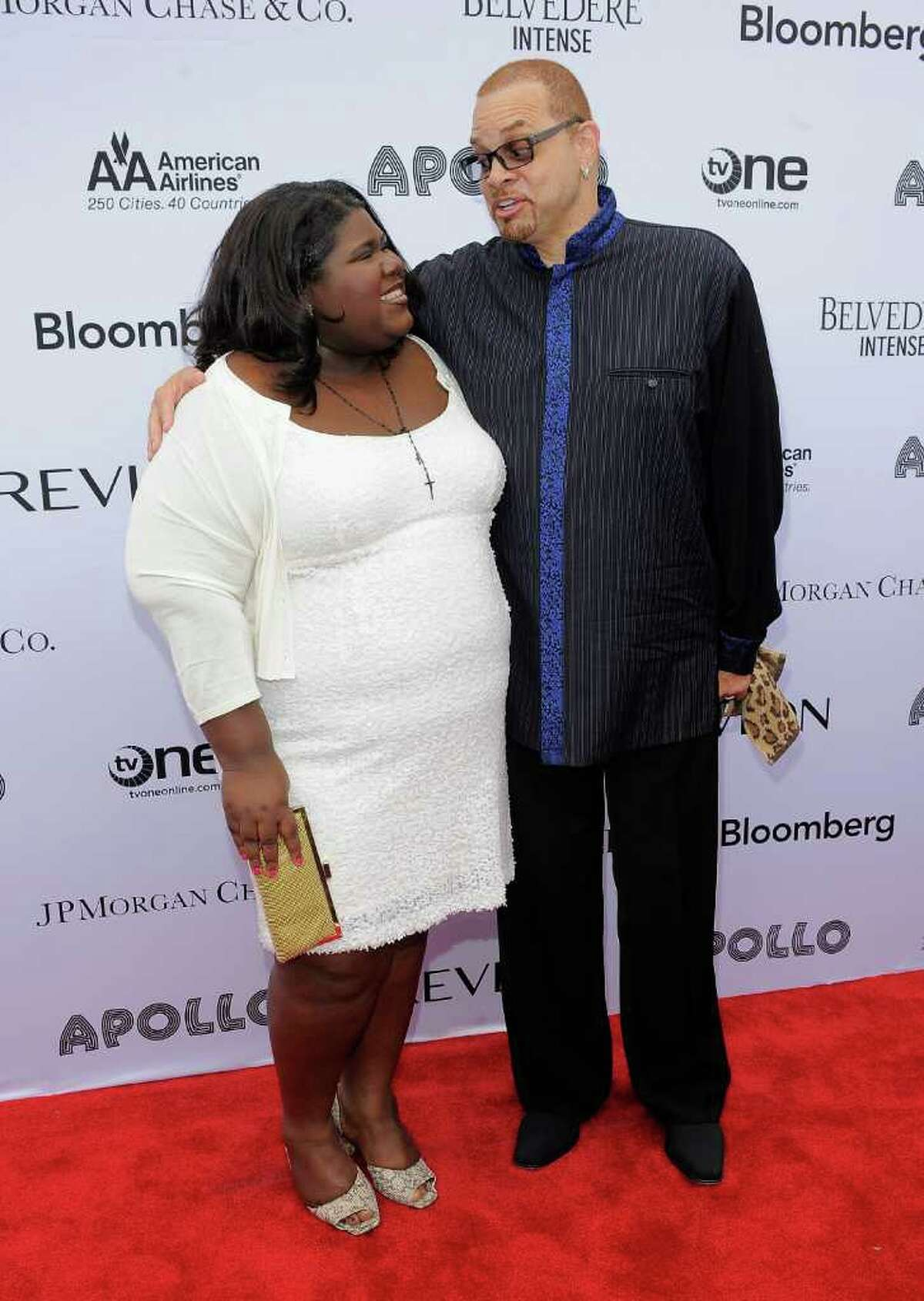 Actress Gabourey Sidibe and actor/comedian Sinbad attend the 2011 Apollo Theater Spring Gala at The Apollo Theater in New York City.