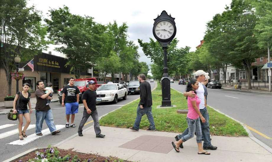 The city of Danbury has created a new downtown revitalization zone to promote growth in the downtown area. This view of Main Street was photographed Tuesday, June 14, 2011. Photo: Carol Kaliff / The News-Times