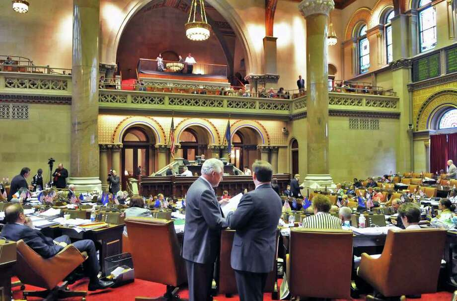 NYS Assembly in session Tuesday June 14, 2011.   (John Carl D'Annibale / Times Union) Photo: John Carl D'Annibale