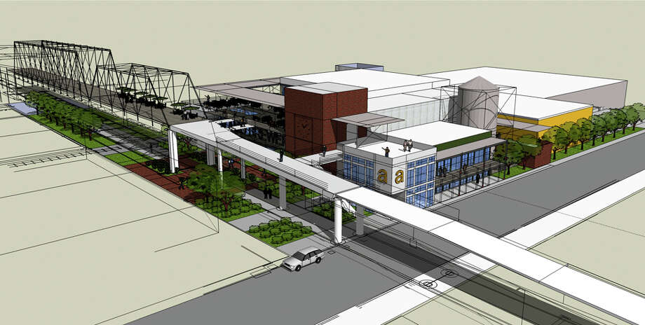 Eugene Simor's plans for the brewery next to the Hays Street Bridge are preliminary and under review. The first phase of the $5.7 million plan includes a 40-foot-tall, 20,000-square-foot brew house. A second phase could add 18,000 square feet. Photo: Courtesy Of Eugene Simor