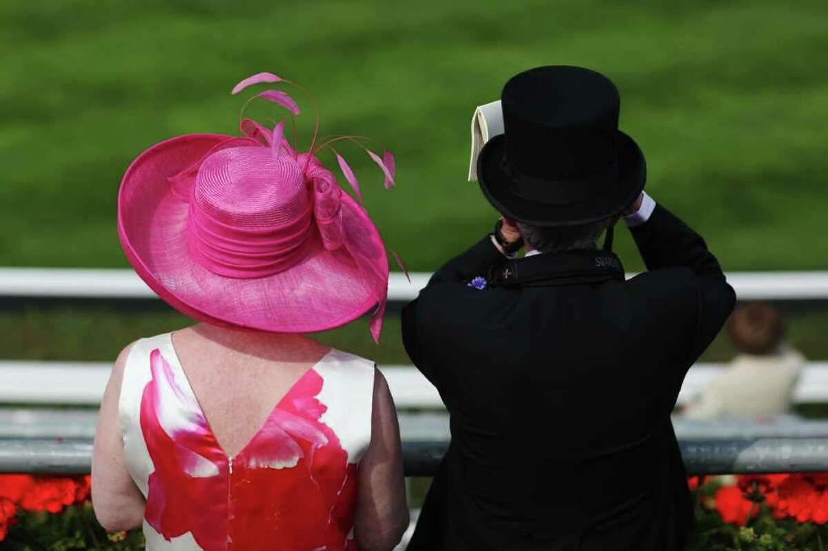 Race gather in the Royal enclosure on day one at Royal Ascot on Tuesday in Ascot, England. The five-day meeting is one of the highlights of the horse racing calendar, with 2011 marking the 300th anniversary of the annual event. Horse racing has been held at the famous Berkshire course since 1711.