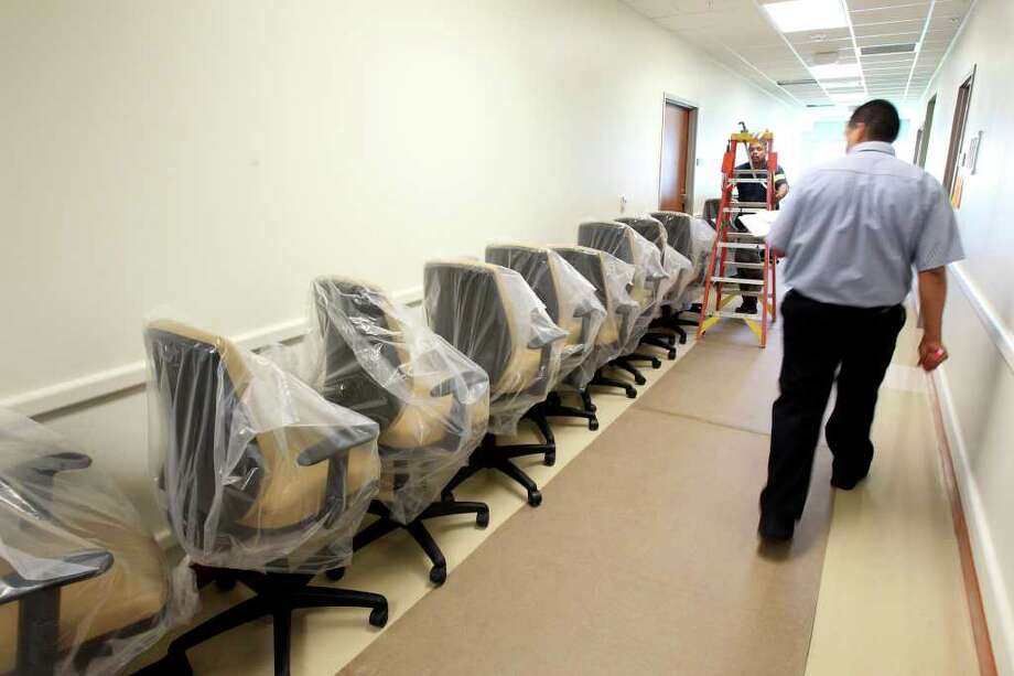 Chairs awaiting placement for staff at Mission Trail  Baptist Hospital. Photo: TOM REEL, SAN ANTONIO EXPRESS-NEWS / © 2011 San Antonio Express-News