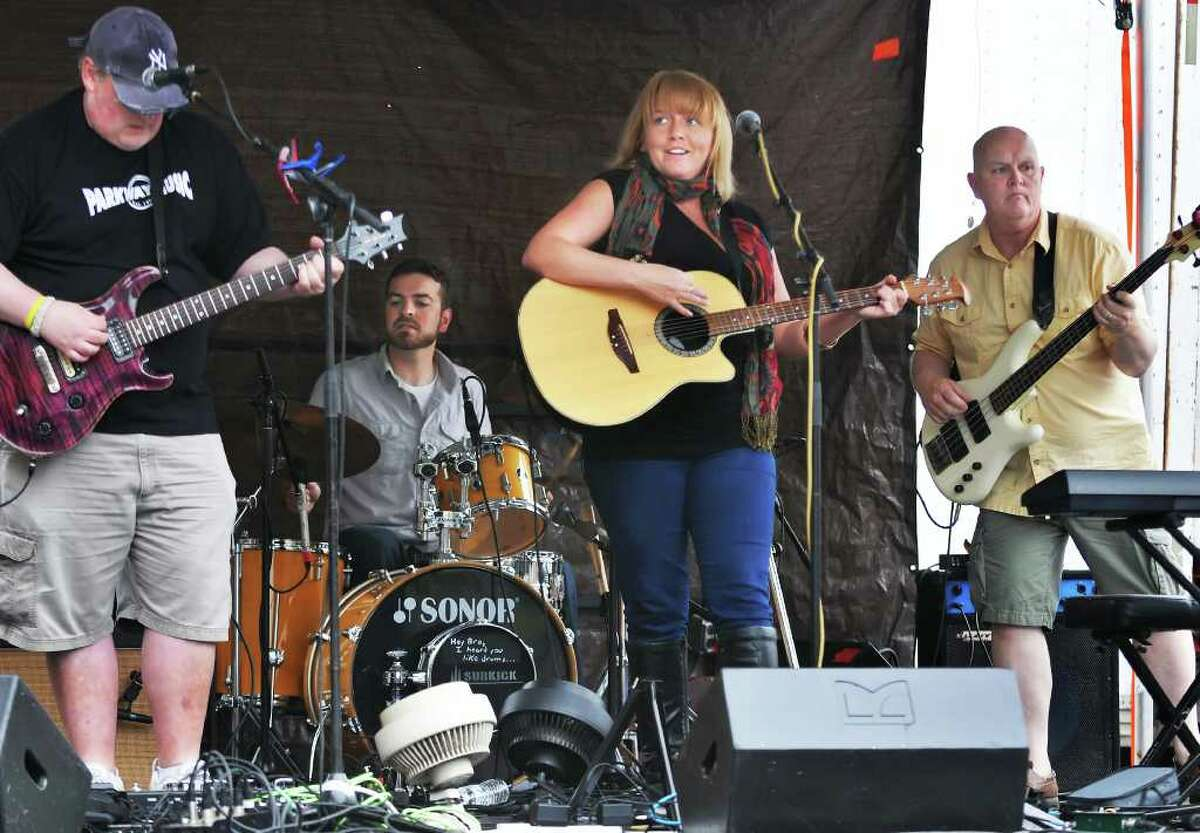 Musician Erin Harkes and her band perform at Art on Lark Saturday June 11, 2011. (John Carl D'Annibale / Times Union)