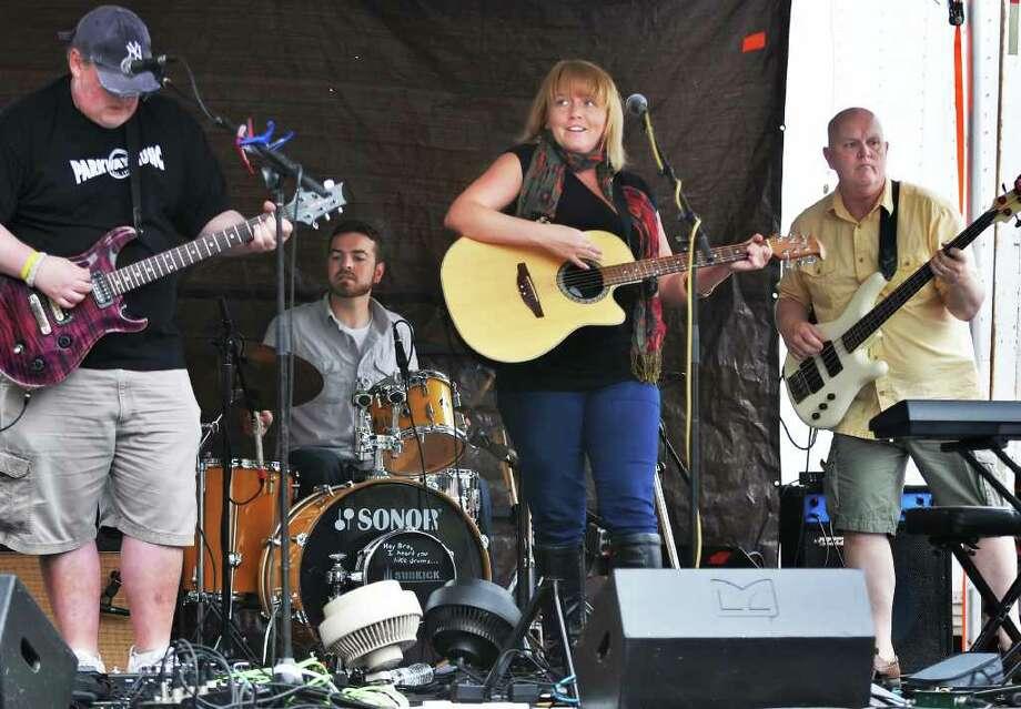 Musician Erin Harkes and her band perform at Art on Lark Saturday June 11, 2011.   (John Carl D'Annibale / Times Union) Photo: John Carl D'Annibale / 00013436A