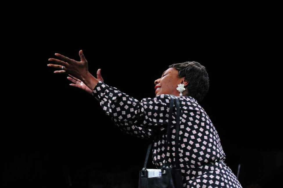 Debra Quattlebaum of Albany rehearses with the Soul Rebel Performance Troupe, as they prepare for