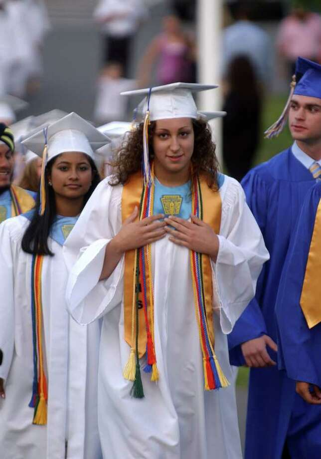 Highlights from Seymour High School's 124th Commencement in Seymour, Conn. on Wednesday June 15, 2011. Graduate and Class Valedictorian Lauren Almonte. Photo: Christian Abraham / Connecticut Post