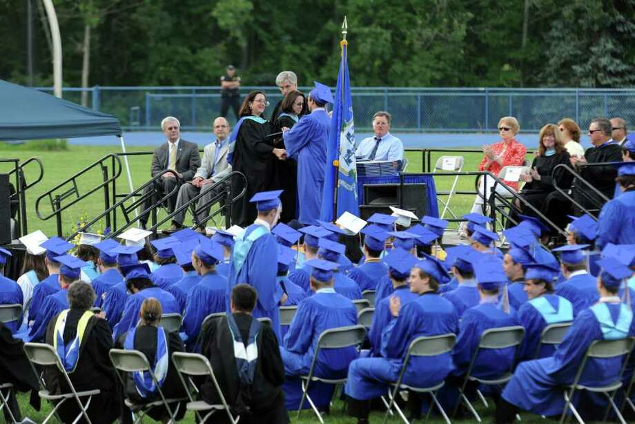 Highlights from Seymour High School's 124th Commencement in Seymour, Conn. on Wednesday June 15, 2011. Photo: Christian Abraham / Connecticut Post