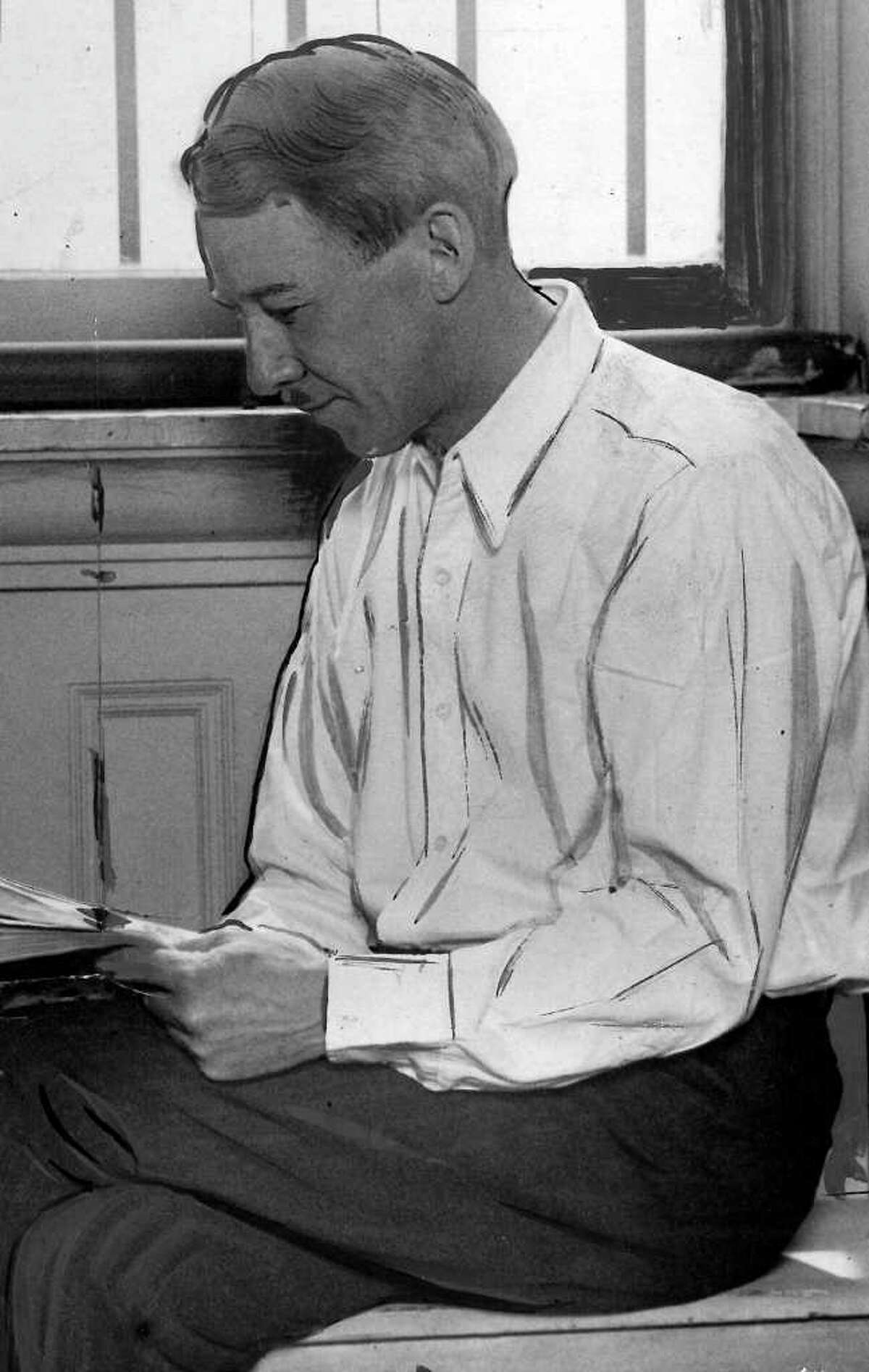 Bob Gaines in Walla Walla State Penitentiary, 1928.