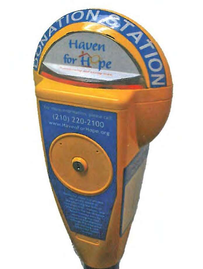 "Twenty-five reconditioned parking meters will be placed downtown as ""donation stations"" in an effort to minimize panhandling. Photo: Courtesy Photo"
