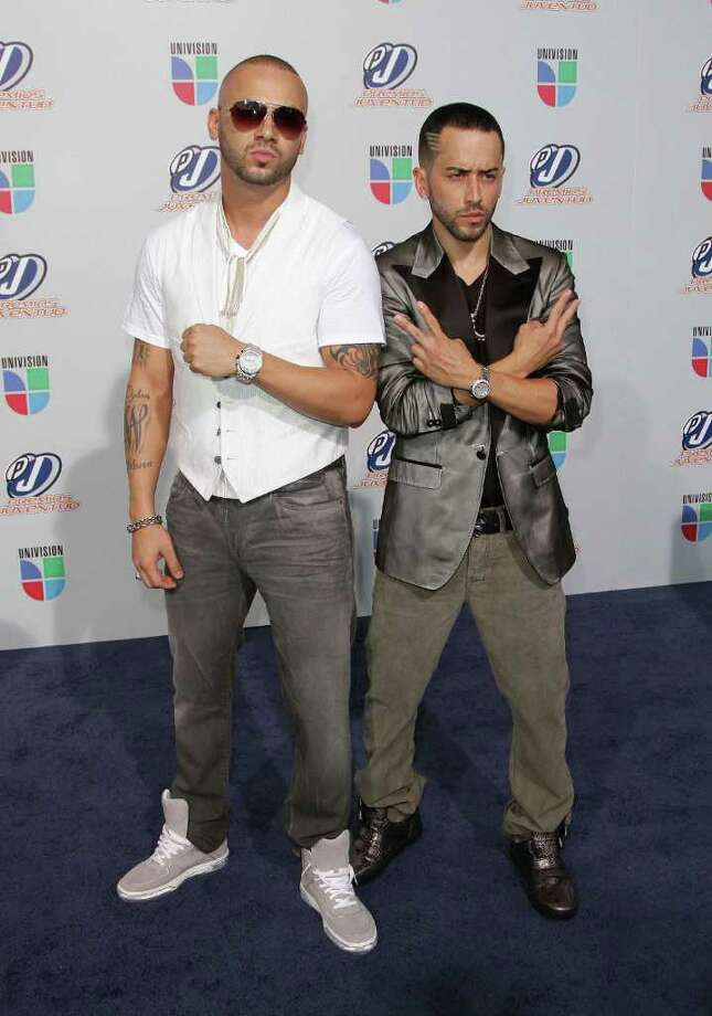 "Llandel Veguilla and Juan Luis Morera of ""Wisin y Yandel"" attend the Univision Premios Juventud Awards at BankUnited Center on July 15, 2010 in Miami, Florida. Photo: Alexander Tamargo, Alexander Tamargo/Getty Images / 2010 Getty Images"