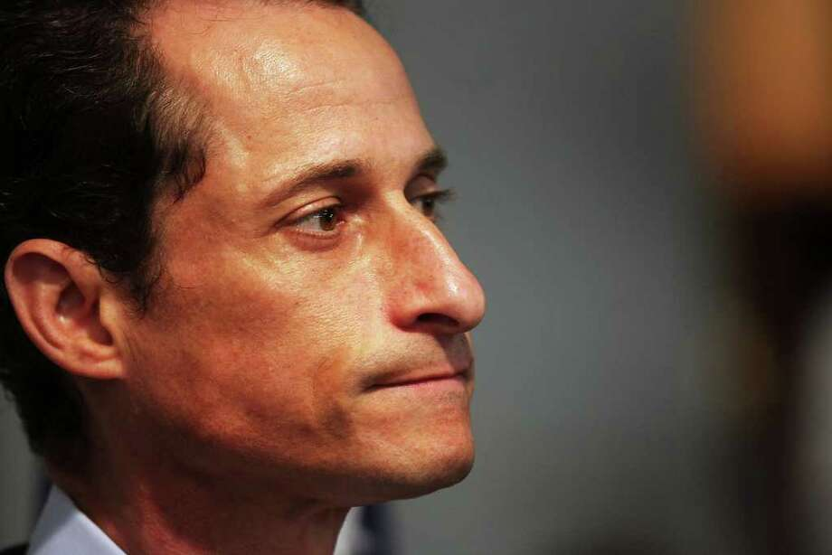NEW YORK, NY - JUNE 16:  Rep. Anthony Weiner (D-NY) announces his resignation June 16, 2011 in the Brooklyn borough of New York City. The resignation comes 10 days after the congressman admitted to sending lewd photos of himself on Twitter to multiple women. Photo: Spencer Platt, Getty Images / 2011 Getty Images