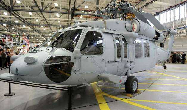 Sikorsky Aircraft and the U.S. Navy celebrate the delivery of the 100th Sikorsky-built MH-60R Seahawk helicopter and the near completion of the 200th MH-60S Seahawk helicopter at their headquarters in Stratford, Conn. Wednesday, April 27, 2011. Photo: Autumn Driscoll / Connecticut Post