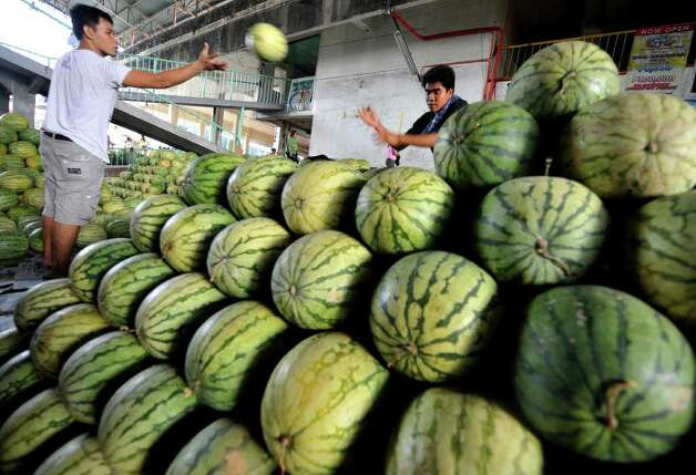No. 12: watermelon. Photo: NOEL CELIS, AFP/Getty Images / 2010 AFP