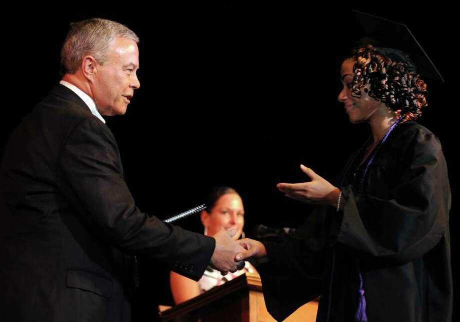 Bullard Havens graduation ceremony at the Klein Memorial Auditorium in Bridgeport, Conn., on June 16, 2011. Photo: Lindsay Niegelberg / Connecticut Post