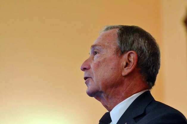 New York City Mayor Michael Bloomberg talks to the media about his discussions with State Senators about the possible vote on gay marriage, at the Capitol on Thursday June 16, 2011 in Albany, NY.  ( Philip Kamrass / Times Union) Photo: Philip Kamrass