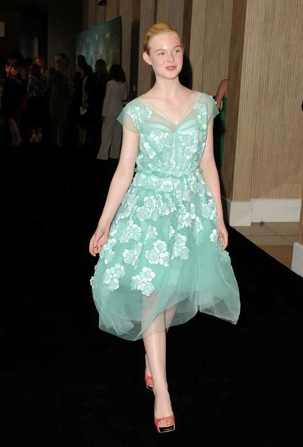 Actress Elle Fanning arrives. Photo: Jason Merritt, Getty Images For WIF / 2011 Getty Images