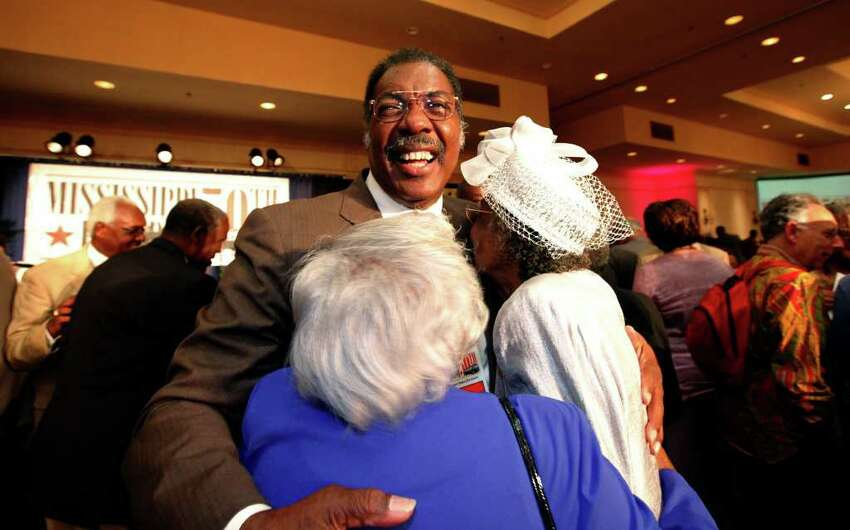 Freedom Rider Hank Thomas smiles as he greets participants at the 50th reunion of the Freedom Riders in Jackson, Miss., on May 22, 2011. Thomas returned with many other Freedom Riders to Jackson to recall their efforts to desegregate the South during the 1960s.