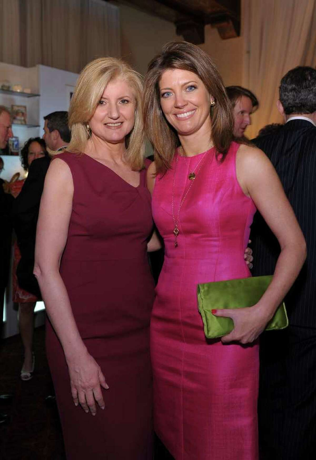 WASHINGTON, DC - APRIL 29: Journalists Arianna Huffington (L) and Norah O'Donnell attend the People/TIME White House Correspondents' dinner cocktail party at the St. Regis Hotel on April 29, 2011 in Washington, DC. (Photo by Michael Loccisano/Getty Images for TIME) *** Local Caption *** Arianna Huffington;Norah O'Donnell;