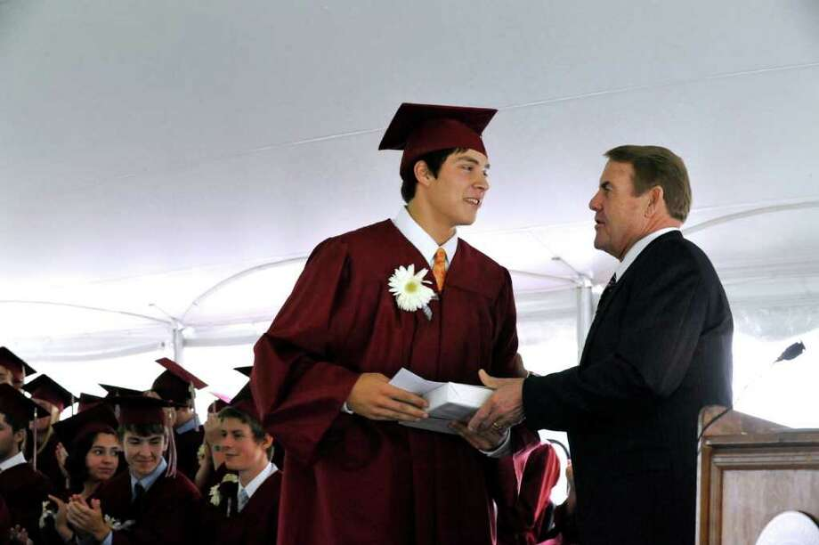 Wooster School graduation was held in Danbury on Friday, June 17, 2011. Photo: Michael Duffy / The News-Times