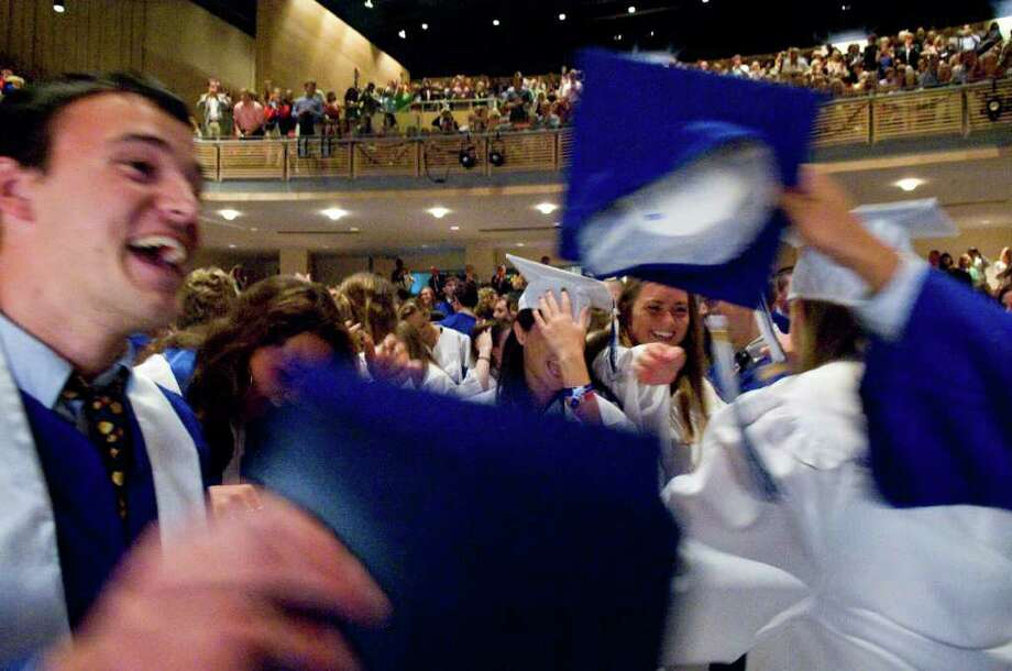 The Darien High School Class of 2011 receive their diplomas at the Commencement Exercises in Darien, Conn. on Friday June 17, 2011. Photo: Kathleen O'Rourke / Stamford Advocate