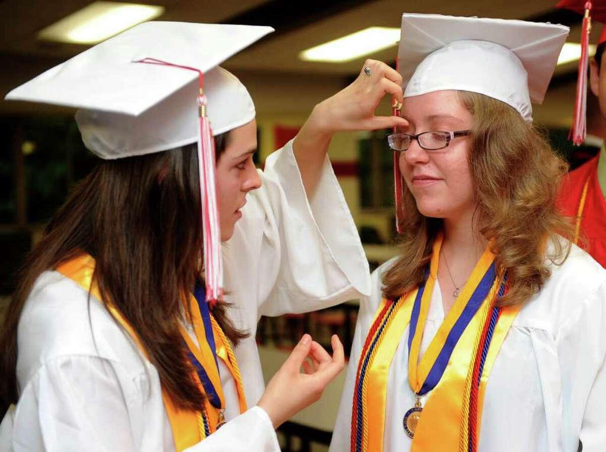 Derby High School's graduation ceremony on Friday, June 17, 2011.