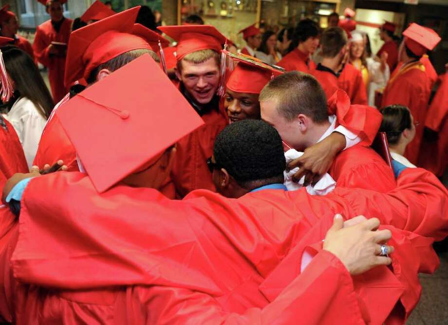 Derby High School's graduation ceremony on Friday, June 17, 2011. Photo: Lindsay Niegelberg / Connecticut Post