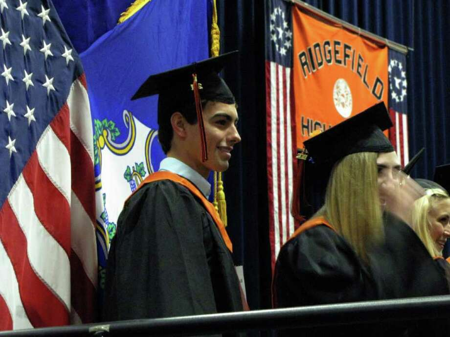 Were you seen at the Ridgefield High School graduation at Western Connecticut State University on Friday, June 17, 2011? Photo: Vincent Rodriguez / The News-Times