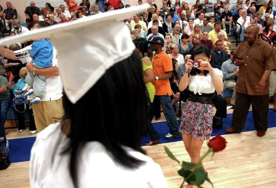 Highlights from Ansonia High School's Commencement Exercises in Ansonia, Conn. on Thursday June 17, 2011. Photo: Christian Abraham / Connecticut Post