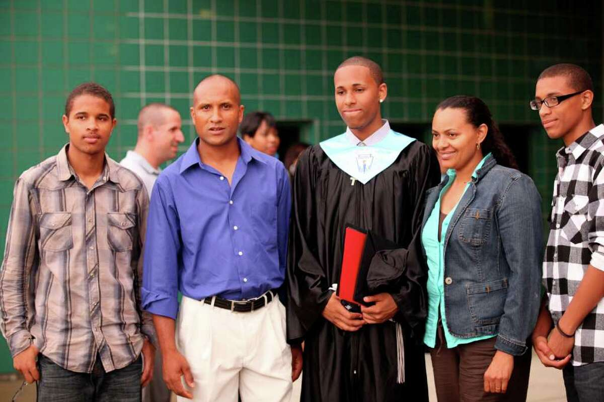 Bridge Academy's commencement ceremony at Thurgood Marshall Middle School in Bridgeport, Conn., on Friday, June 17, 2011.