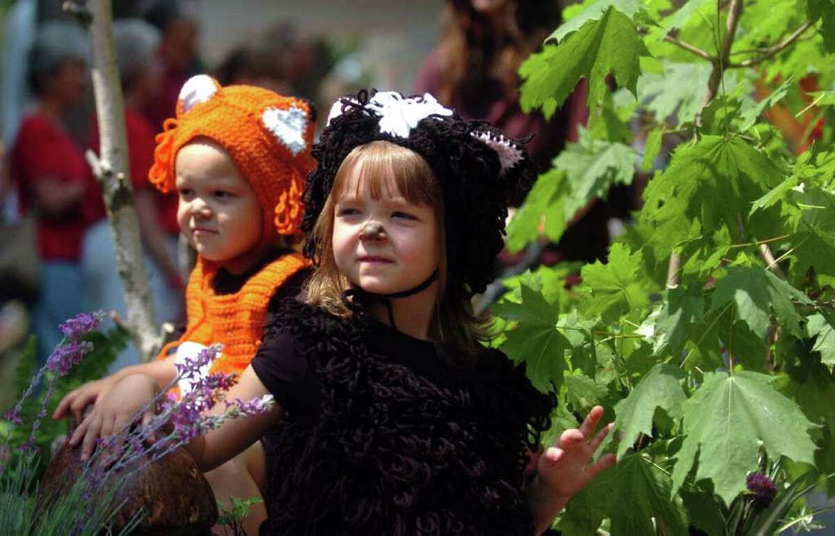 The annual Barnum Festival Wing Ding parade moves through the Beardsley Zoo in Bridgeport, Conn. Saturday, June 18, 2011.