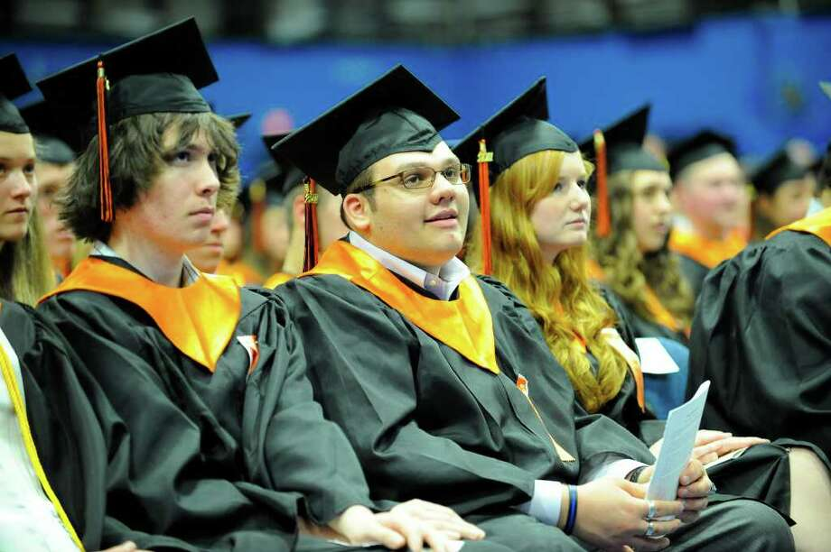 Ridgefield High School held it's graduation ceremonies Friday afternoon, June 17, 2011. The commencement was held at WestConn's O'Neill Center in Danbury. Photo: James Burns III / The News-Times Freelance