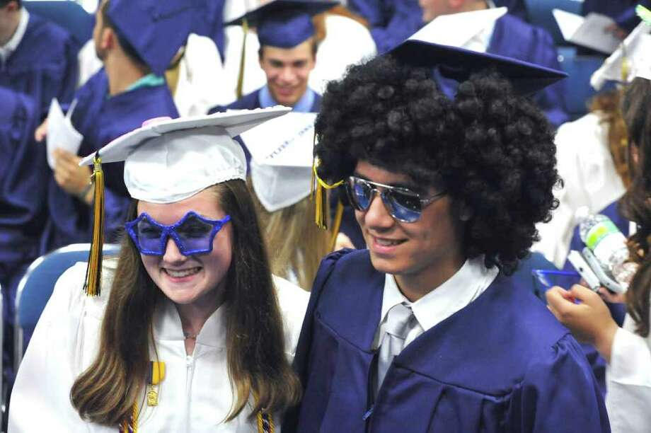 Brookfield High School's graduation was held at Western Connecticut State University's O'Neill Center in Danbury, Saturday, June 18, 2011. Photo: Michael Duffy / The News-Times