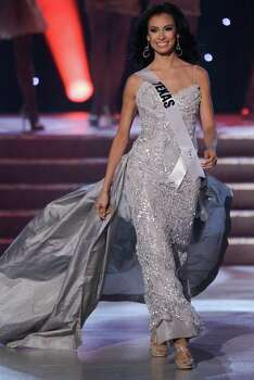 Ana Christina Rodriguez, Miss Texas, is introduced as one of the quarterfinalists during the Miss USA pageant, Sunday, June 19, 2011, in Las Vegas. Photo: Julie Jacobson/Associated Press