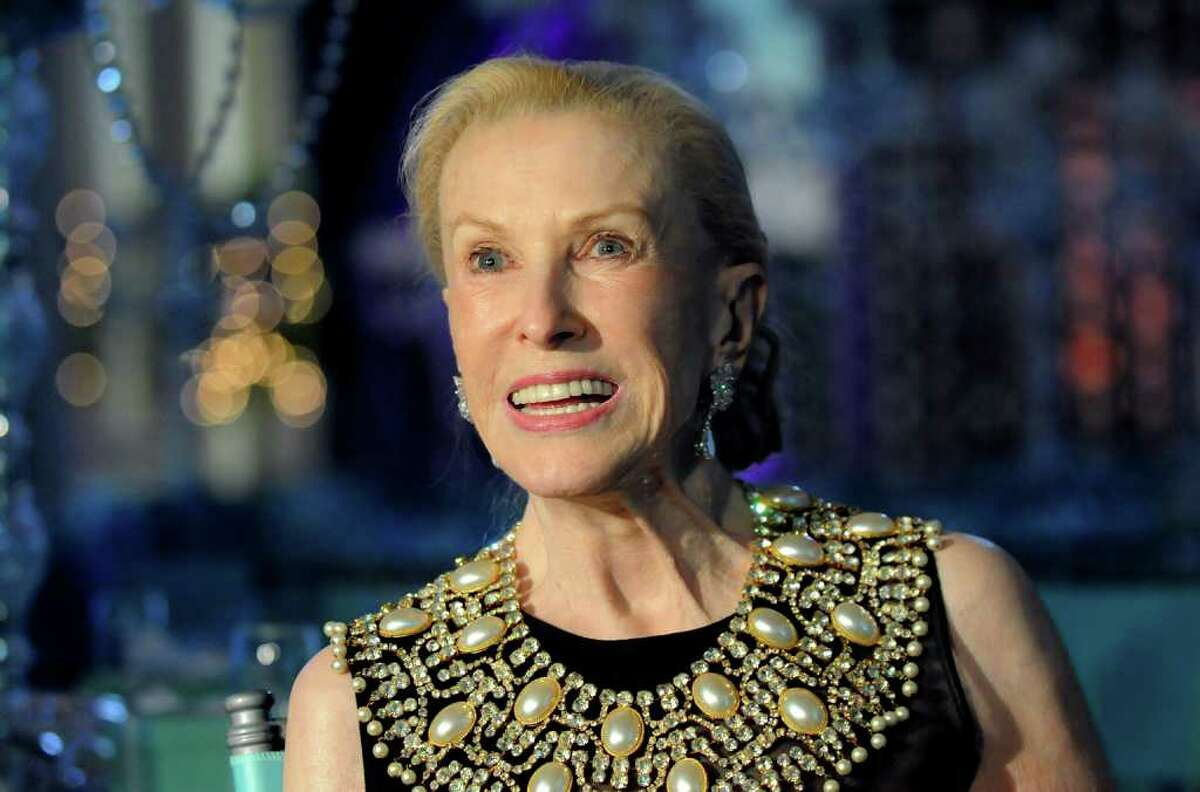 Marylou Whitney meets with the media at the start of the Whitney Gala on Friday, Aug. 6, 2010, at the Canfield Casino in Saratoga Springs, N.Y. (Cindy Schultz / Times Union)