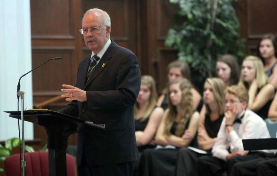 Baylor University President Ken Starr speaks Sunday June 19, 2011 at Baptist Temple Church in San Antonio, Texas. Starr is known for his former position as Independent Counsel during the years of the Clinton adminsitration. JOHN DAVENPORT/jdavenport@express-news.net Photo: John Davenport/Express-News