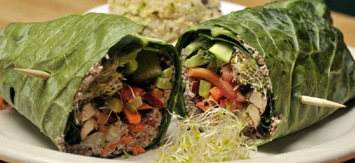 The Raw-Deal Wrap is available at Green Vegetarian Cuisine.