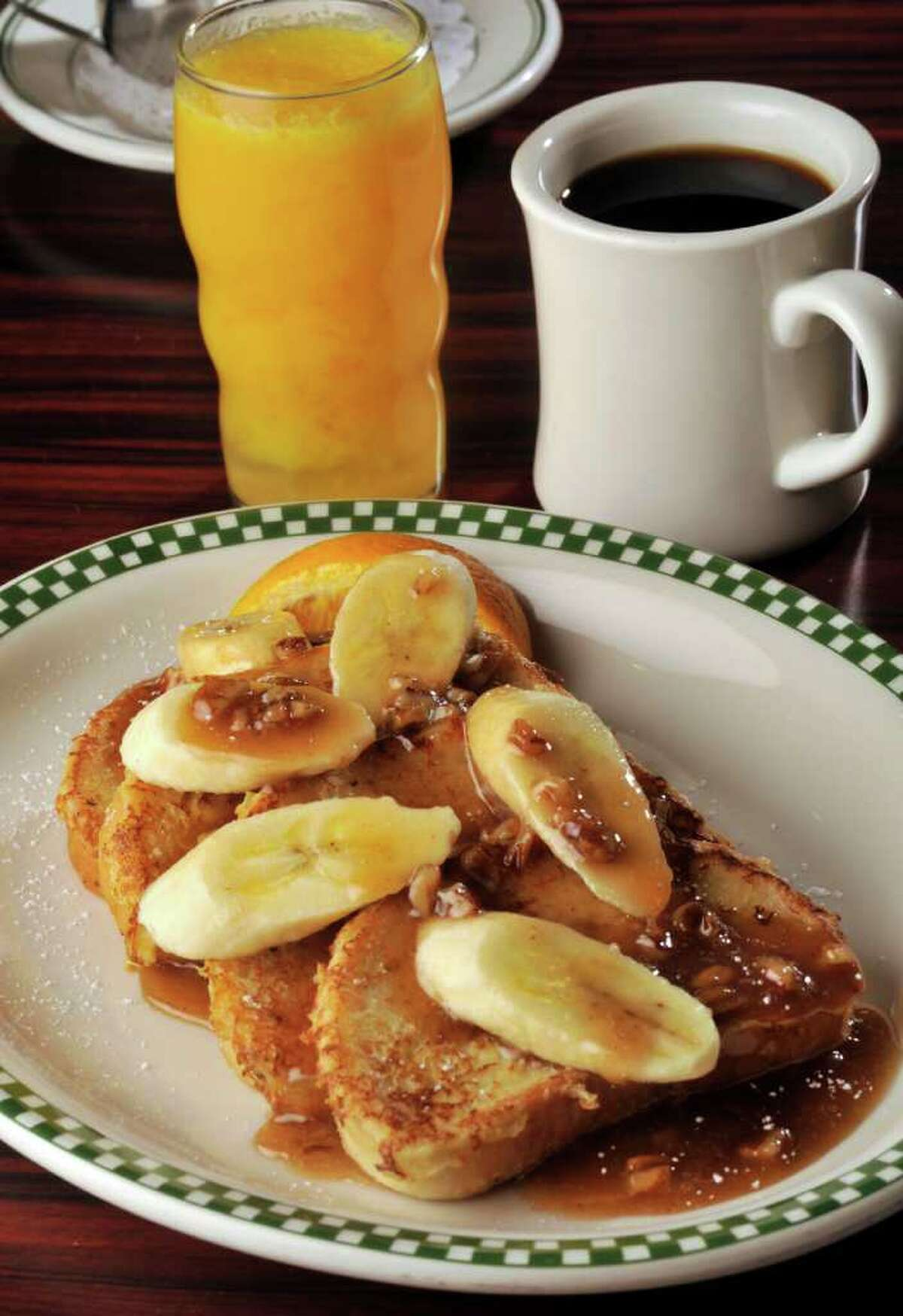 Bananas Foster French Toast is another breakfast specialty at the North Side restaurant that's been open for 11 years.