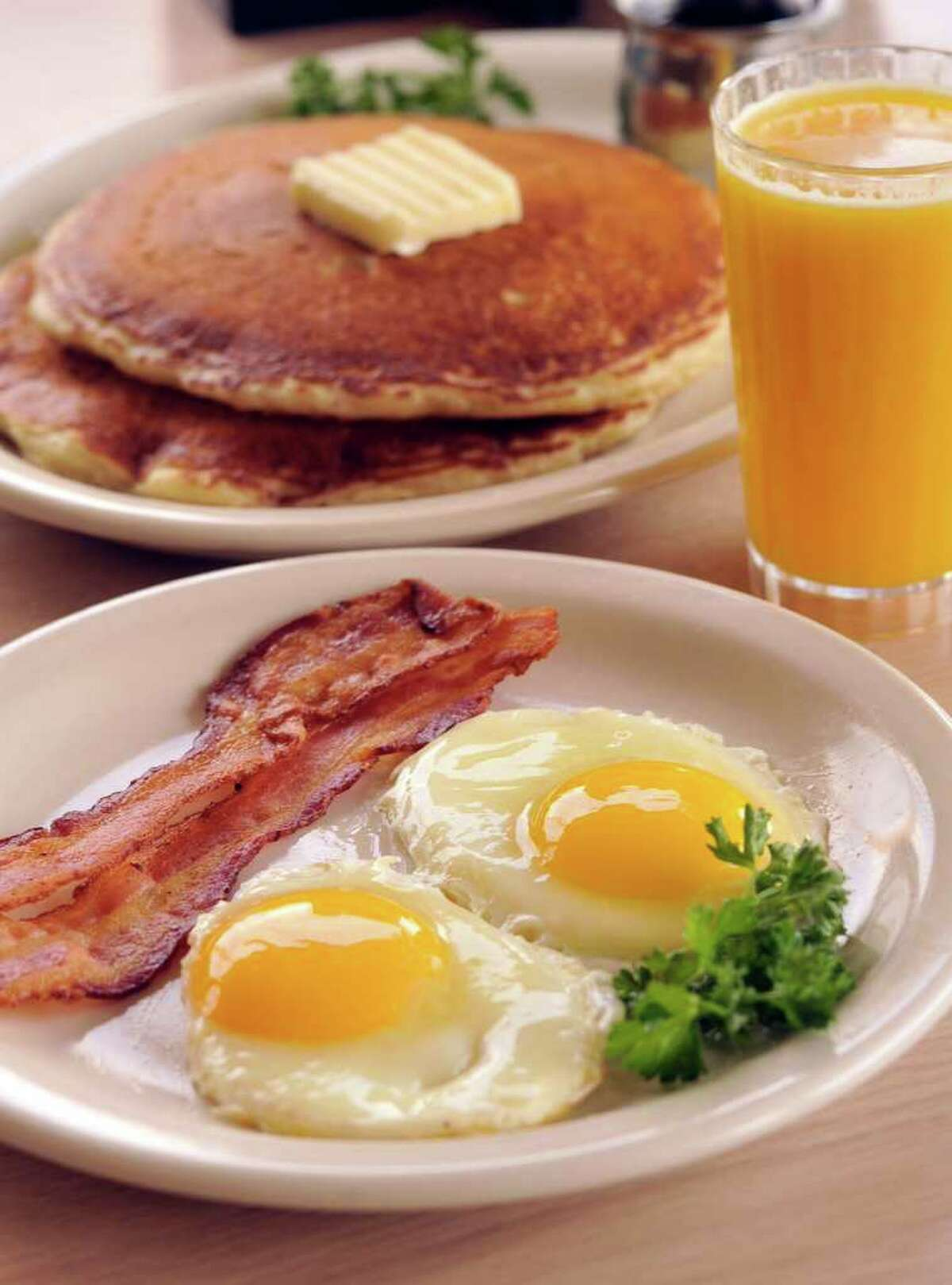 Bacon and Eggs from Jim's Restaurant, voted the Readers' Choice for best service and best longtime favorite.