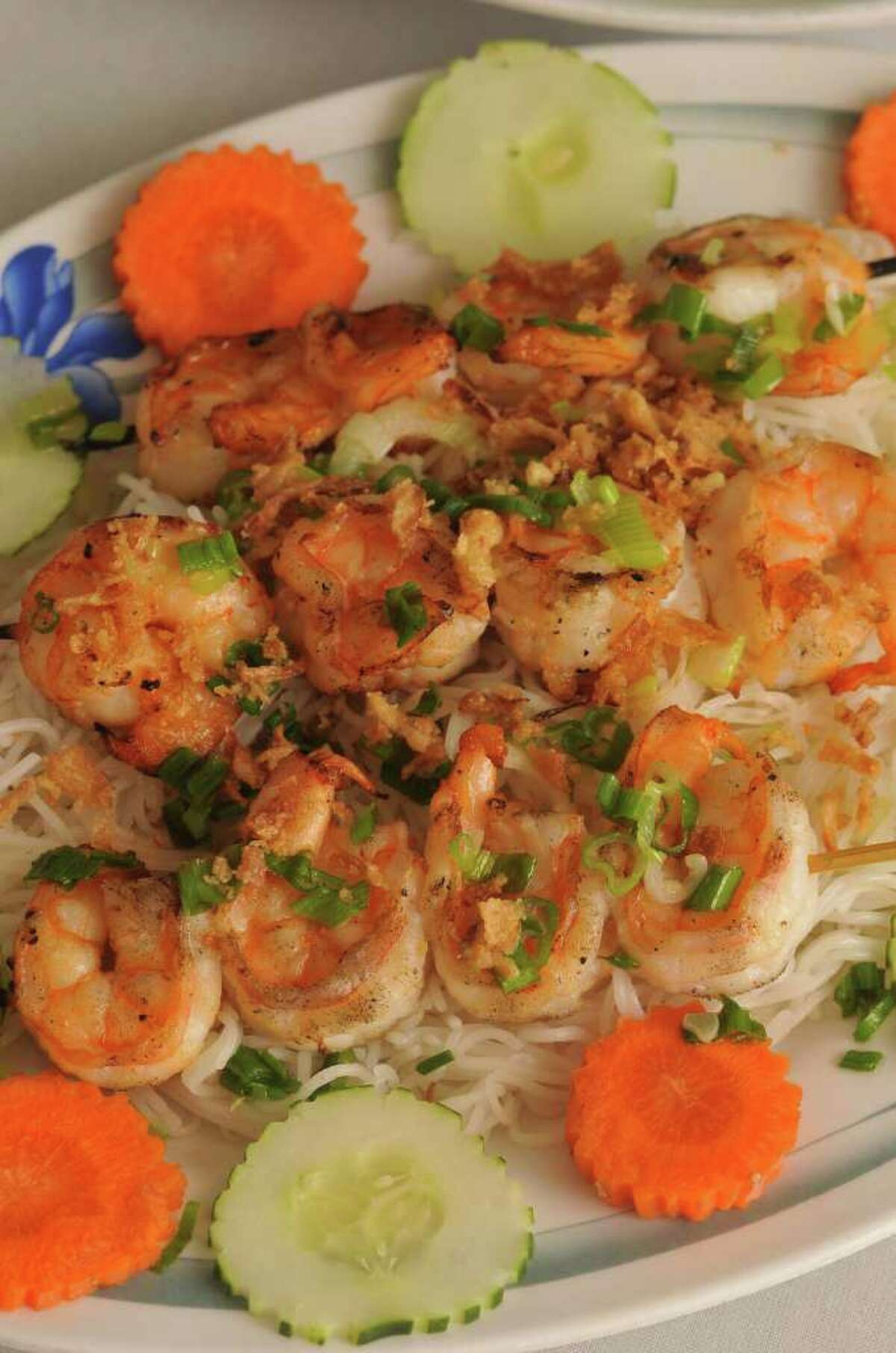 Tom Nuong (grilled shrimp) from Viet-Nam Restaurant at 3244 Broadway.