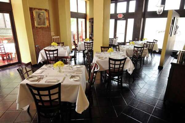A relaxed, respectful atmosphere sets the stage for the crisp, clean flavors of the food served at Restaurant Gwendolyn.