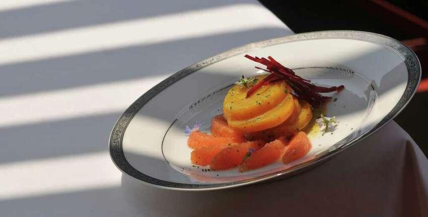 A beet salad with borage and radish from Restaurant Gwendolyn.