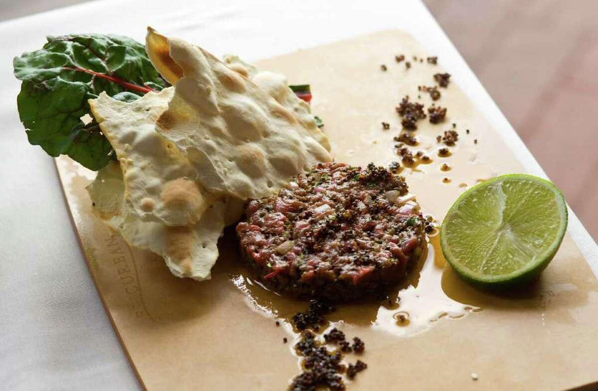 Lamb Tartar from Coco Chocolate Lounge & Bistro.