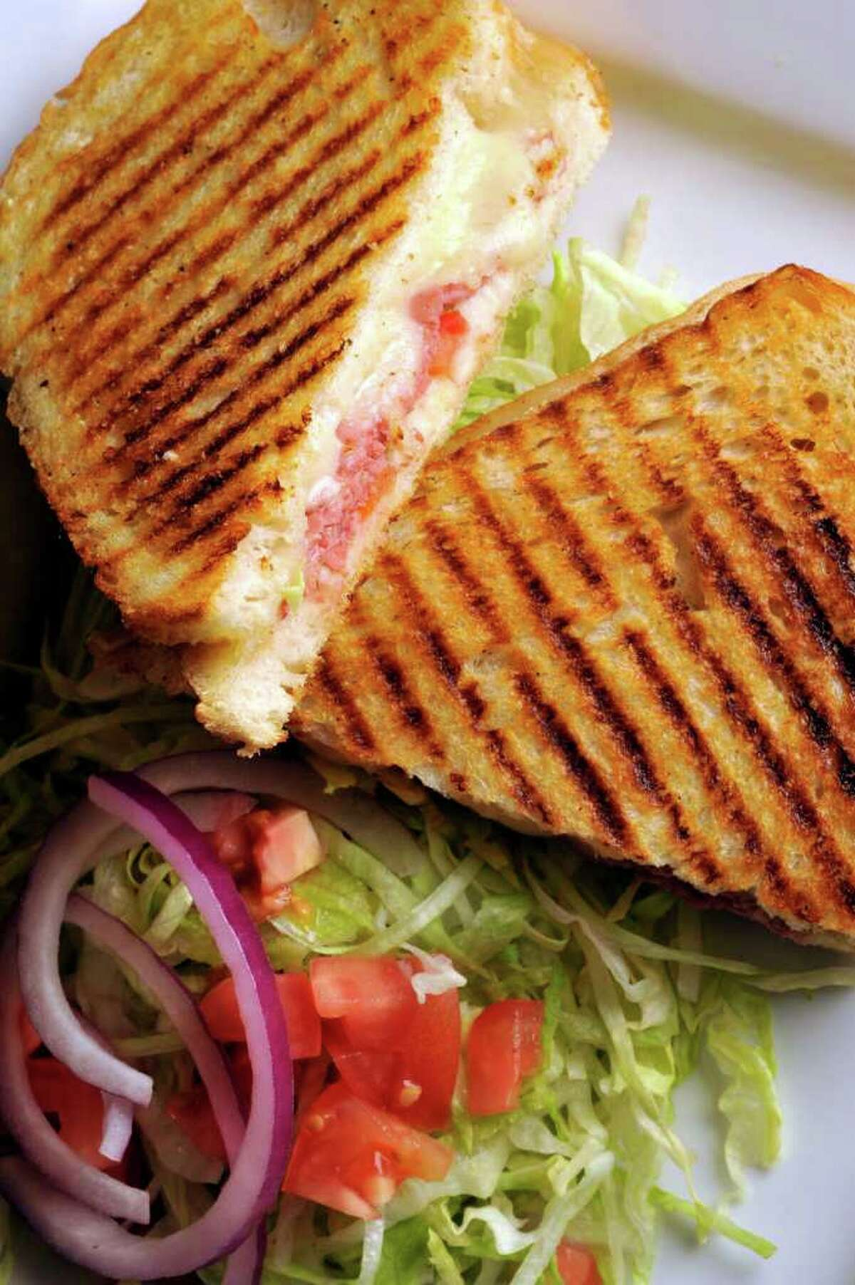A Panini sandwich from the Spice Rack Deli, which was voted Readers' Choice for best neighborhood restaurant/Northwest Side and best restaurant for the buck.