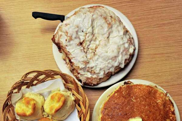 Steak and eggs, pancakes, biscuits and giant cinnamon rolls gave Mr. Tim's the best breakfast nod from critics.
