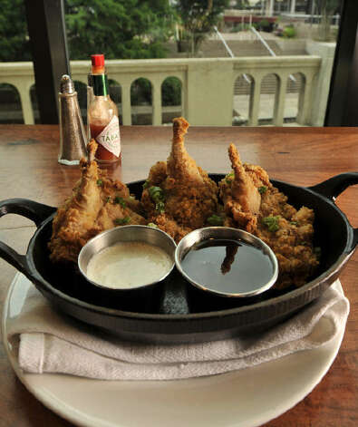 Fried Texas Quail with buttermilk ranch dressing and Hill Country Honey is available from Lüke, which tied with La Gloria for best new restaurant. Photo: Robin Jerstad/Special To The Express-News