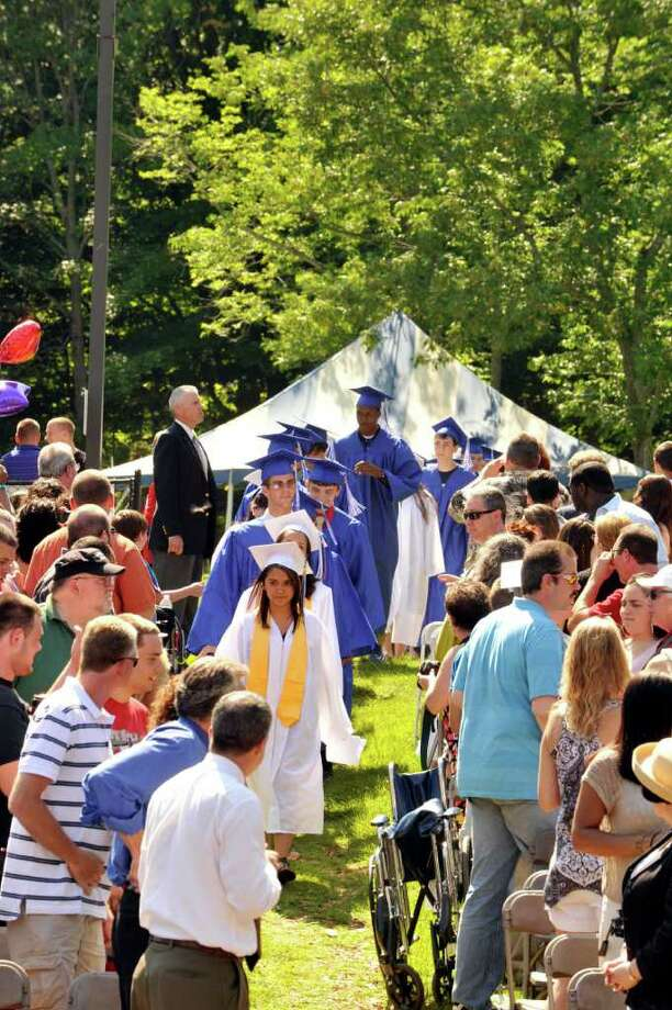 Henry Abbott Technical High School graduation was at the Ives Center in Danbury Monday, June 20, 2011. Photo: Michael Duffy / The News-Times