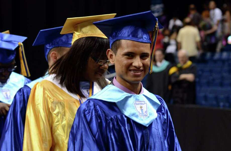 The 2011 Warren Harding High School Commencement at Webster Bank Arena in Bridgeport on Monday, June 20, 2011. Photo: Amy Mortensen / Connecticut Post Freelance