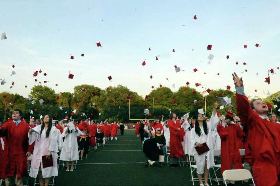 Greenwich High School's graduation on Monday, June 20, 2011. Photo: Helen Neafsey / Greenwich Time