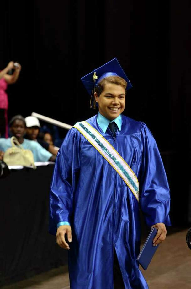 Rafael Parussolo during the 2011 Warren Harding High School Commencement at Webster Bank Arena in Bridgeport on Monday, June 20, 2011. Photo: Amy Mortensen / Connecticut Post Freelance