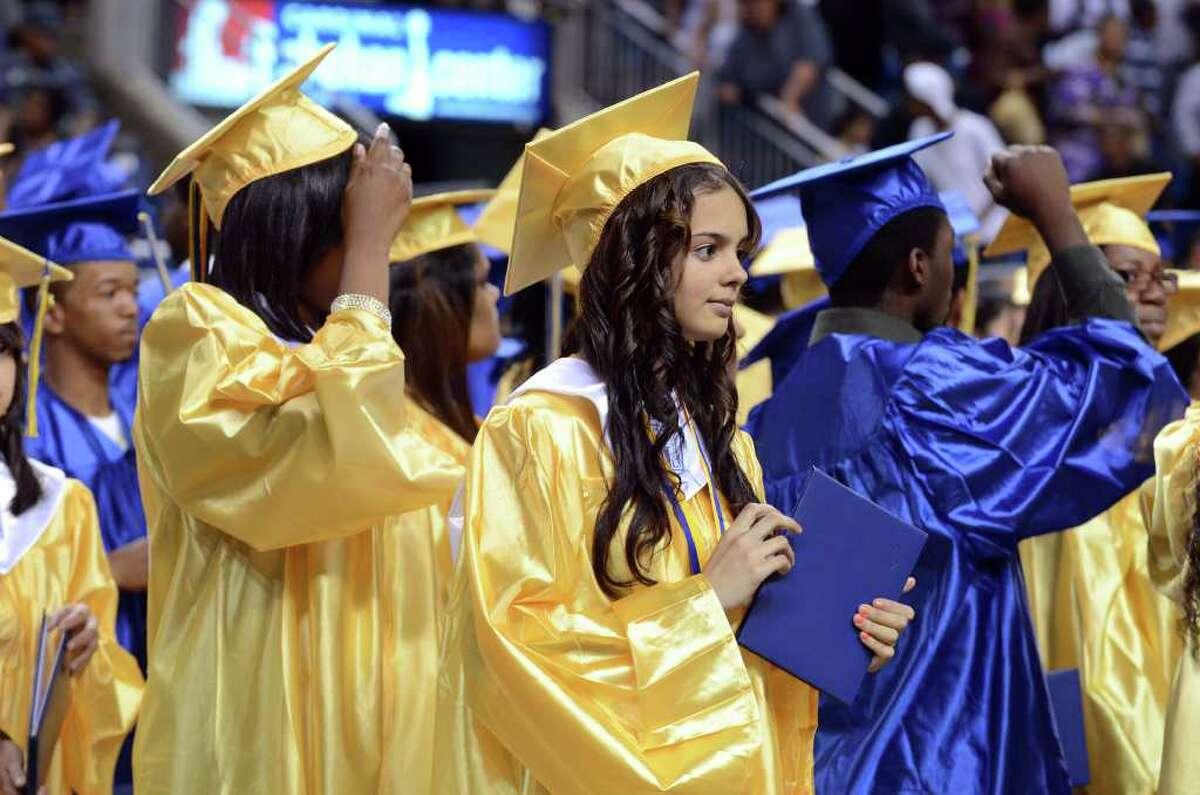 The 2011 Warren Harding High School Commencement at Webster Bank Arena in Bridgeport on Monday, June 20, 2011.